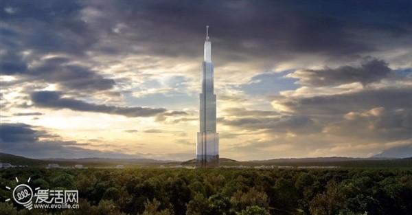 【高清图】世界第一高楼将建:834米/90亿/中国长沙
